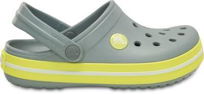 Boty CROCBAND KIDS J2 concrete/chartreuse, Crocs - 5