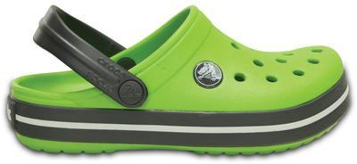 Boty CROCBAND KIDS C6/7 volt green/graphite, Crocs - 5