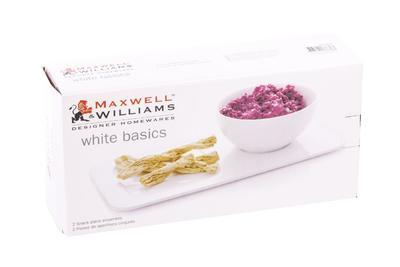 Set snack - talíř a miska WHITE BASICS 2 ks, Maxwell & Williams - 5