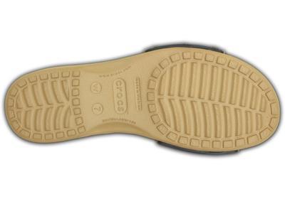Pantofle SARAH SANDAL W11 navy/gold, Crocs - 5
