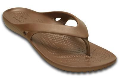Žabky WOMEN'S KADEE II FLIP W6 bronze, Crocs - 5