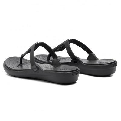Žabky SANRAH LIQUID METALLIC FLIP W5 silver/black, Crocs - 5
