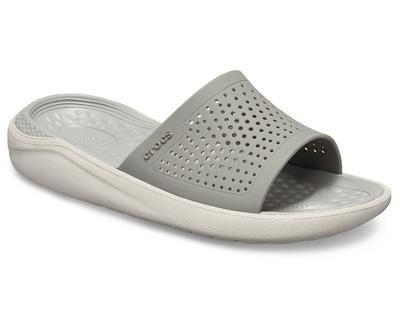 Pantofle LITERIDE SLIDE M11 smoke/pearl white, Crocs - 5