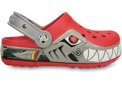 Boty CROCSLIGHTS ROBO SHARK CLOG C10 red/silver, Crocs - 5