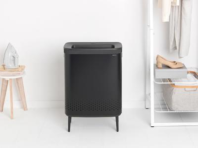 Koš na prádlo BO 2x45l, matná černá, Brabantia    - 5