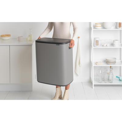 Odpadkový koš Touch Bin 2x30L , minerální světle šedá, Brabantia - 5