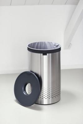 Koš na prádlo 60l, matná ocel, Brabantia - 5