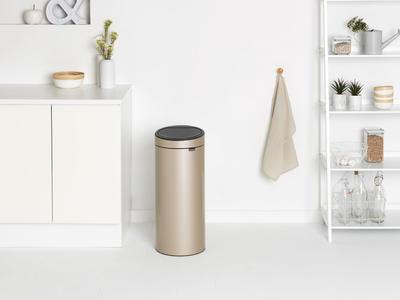 Odpadkový koš Touch Bin 30l, champagne, Brabantia - 5