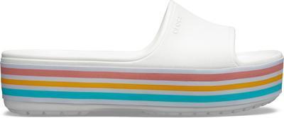 Pantofle CB PLATFORM BLD COLOR SLIDE M9/W11 white, Crocs - 5