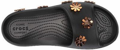Pantofle METALLIC BLOOMS SLIDE M8/W10 black, Crocs - 5