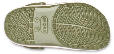 Boty CROCBAND CLOG KIDS C12 army green/burnt sienna, Crocs - 5