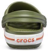Boty CROCBAND CLOG KIDS C9 army green/burnt sienna, Crocs - 5/6