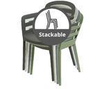 Stohovací židle BOSTON, 56,5x59x81cm, antracit, venkovní, Kaemingk - 5/5