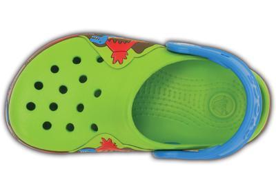 Boty CROCSLIGHTS DINOSAUR CLOG C10 volt green/ocean, Crocs - 6