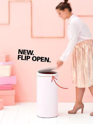 Koš odpadkový FLIPBIN 30 l - minerální růžová, Brabantia - 6