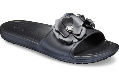 Pantofle SLOANE VIVIDBLOOMS SLD W10 black/black, Crocs - 6