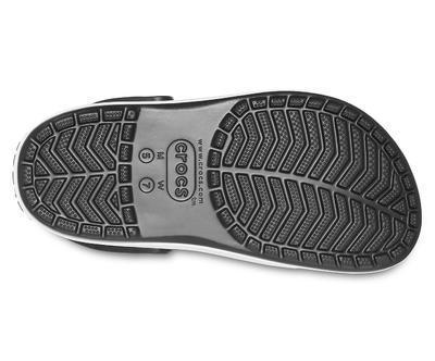 Boty CROCBAND PLATFORM CLOG M8/W10 black/white, Crocs - 6