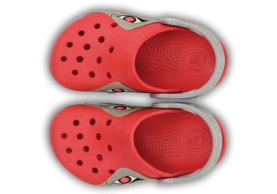 Boty CROCSLIGHTS ROBO SHARK CLOG C10 red/silver, Crocs - 6