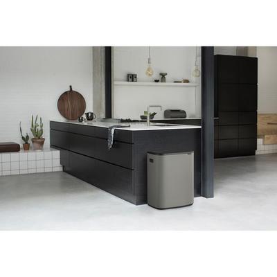 Odpadkový koš Touch Bin 2x30L , minerální světle šedá, Brabantia - 6