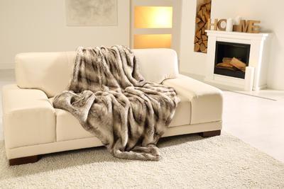 Kožešinová deka  150x200, vzor medvěd KODIAK, Gözze - 6