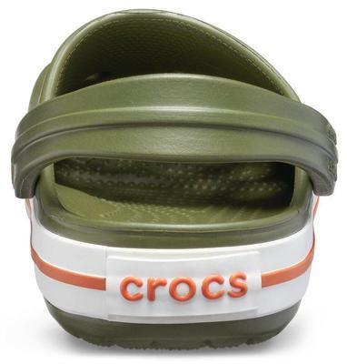 Boty CROCBAND CLOG KIDS C5 army green/burnt sienna, Crocs - 6