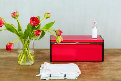 Chlebník FALL FRONT - zářivě červená, Brabantia - 7