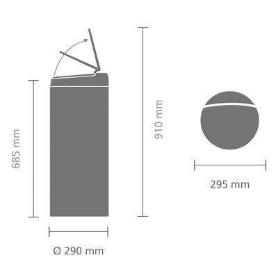 Koš odpadkový FLIPBIN 30 l - antracitová, Brabantia - 7