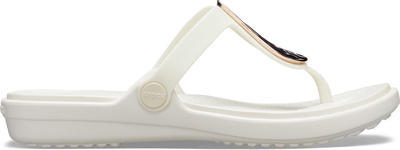 Žabky SANRAH LIQUID METALLIC FLIP W8 rose gold/oyster, Crocs - 7