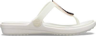 Žabky SANRAH LIQUID METALLIC FLIP W5 rose gold/oyster, Crocs - 7