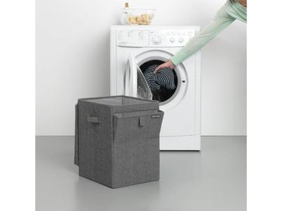 Stohovatelný koš na prádlo 35l, tmavě šedý melír, Brabantia        - 7