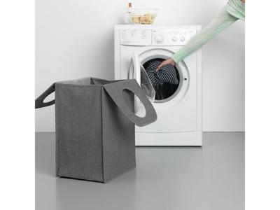 Taška na prádlo 55l, tm. šedý melír, Brabantia     - 7