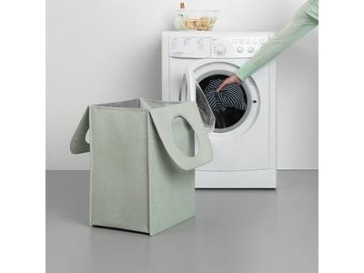 Taška na prádlo 55 l - zelený melír, Brabantia      - 7